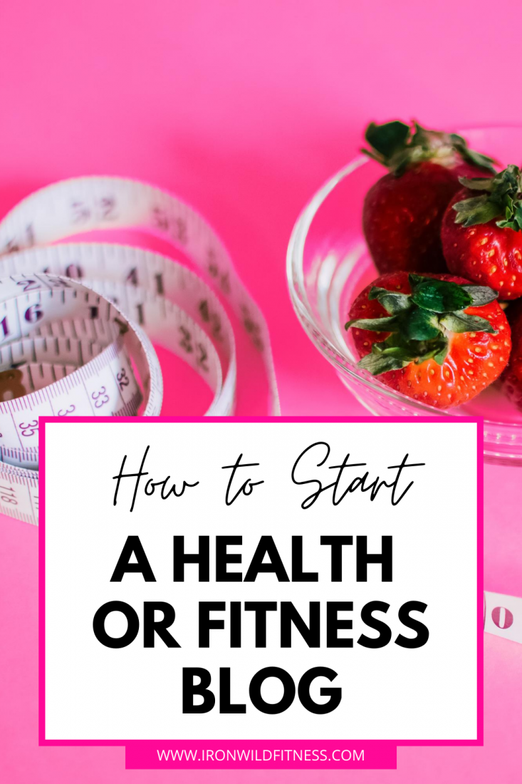 how to start a health or fitness blog