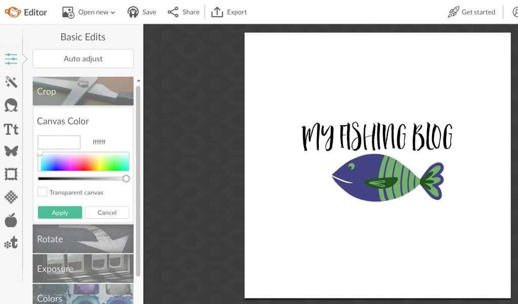 easy DIY blog logo design
