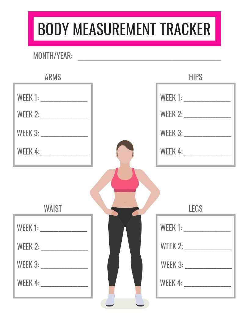 Free Body Measurement Tracker - Ironwild Fitness