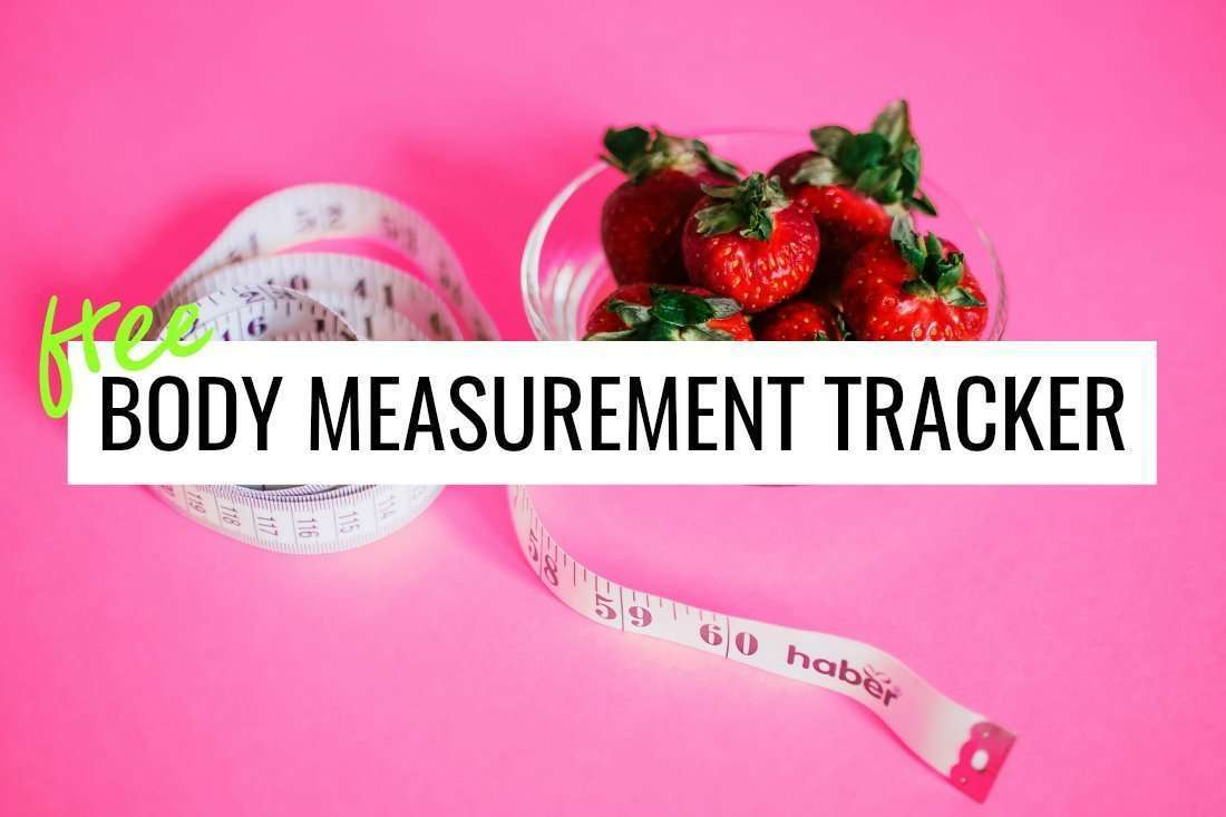 free body measurement tracker download printable