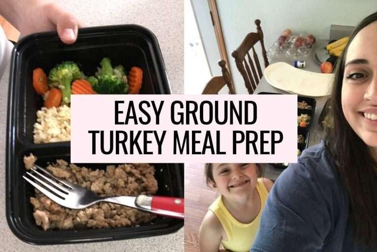 Easy Ground Turkey Meal Prep + Brown Rice