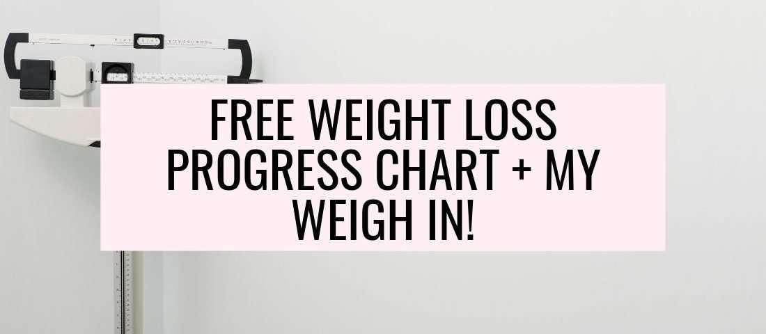 free weight loss progress chart pdf