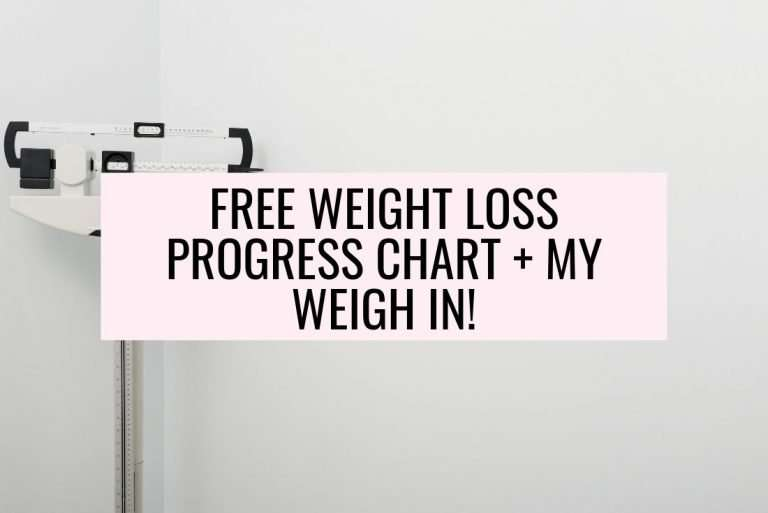 Weight Loss Progress Chart & My Weigh In!