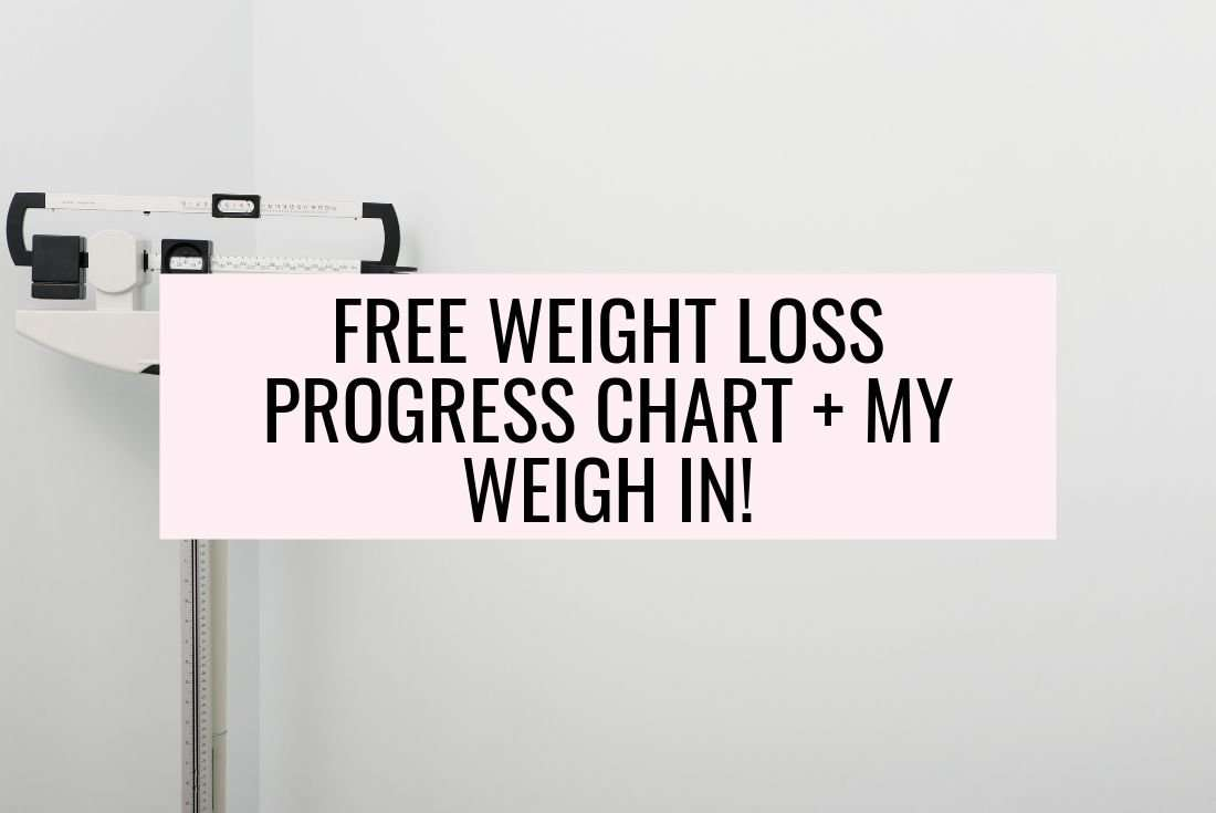 free weight loss progress chart pdf