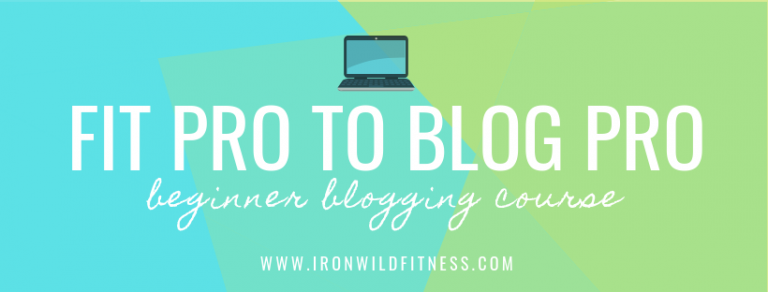 beginner blogging course for fitness professionals and health coaches