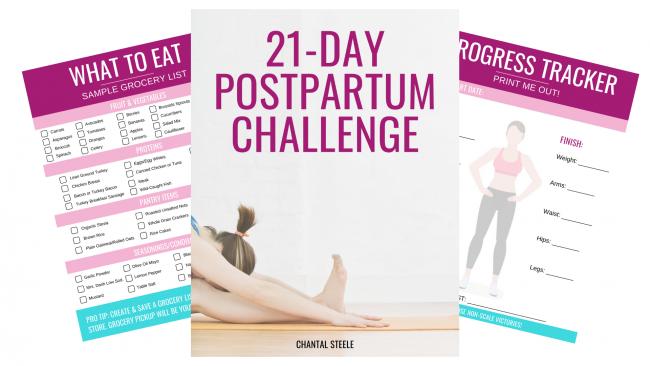 21 Day Postpartum workout Challenge