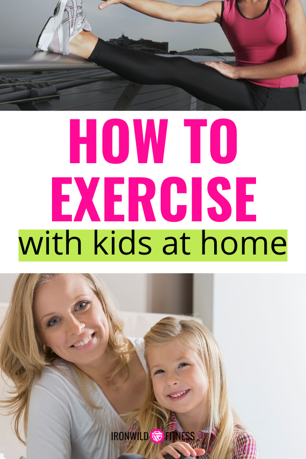 how to exercise with kids at home!