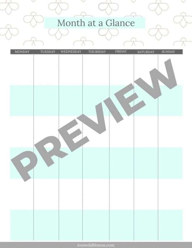 simple printable planner bundle