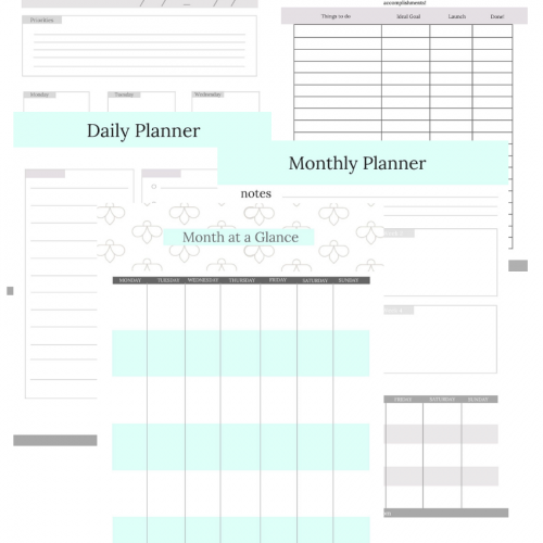 cute simple printable planner