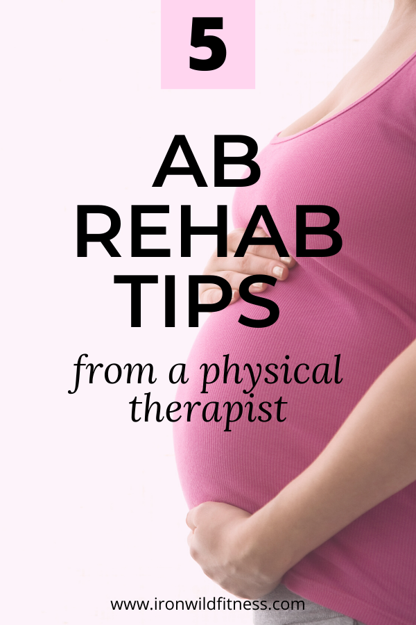 ab rehab tips for new moms