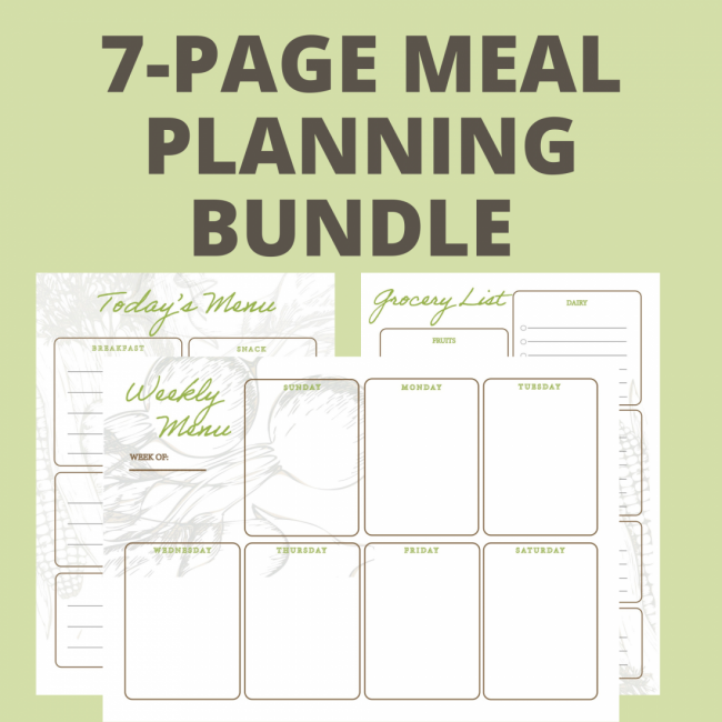 7-PAGE MEAL PLANNING BUNDLE