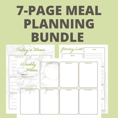 meal planning printable set