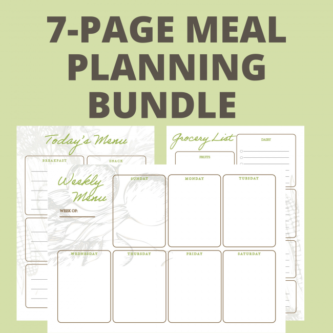 meal planning printable set