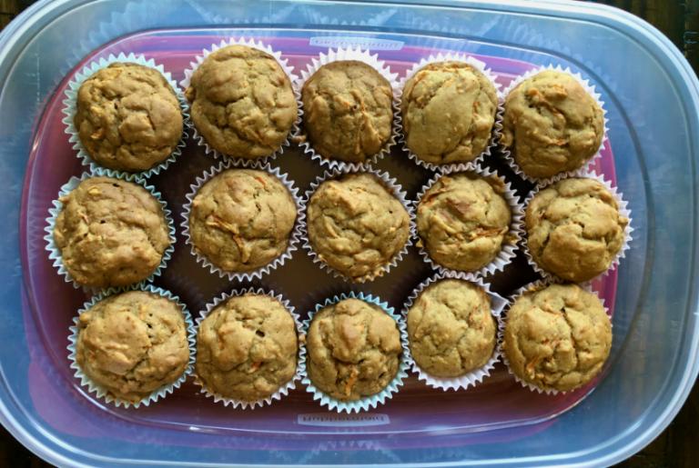 Easy Vegan Carrot Muffins (No Added Sugar!)