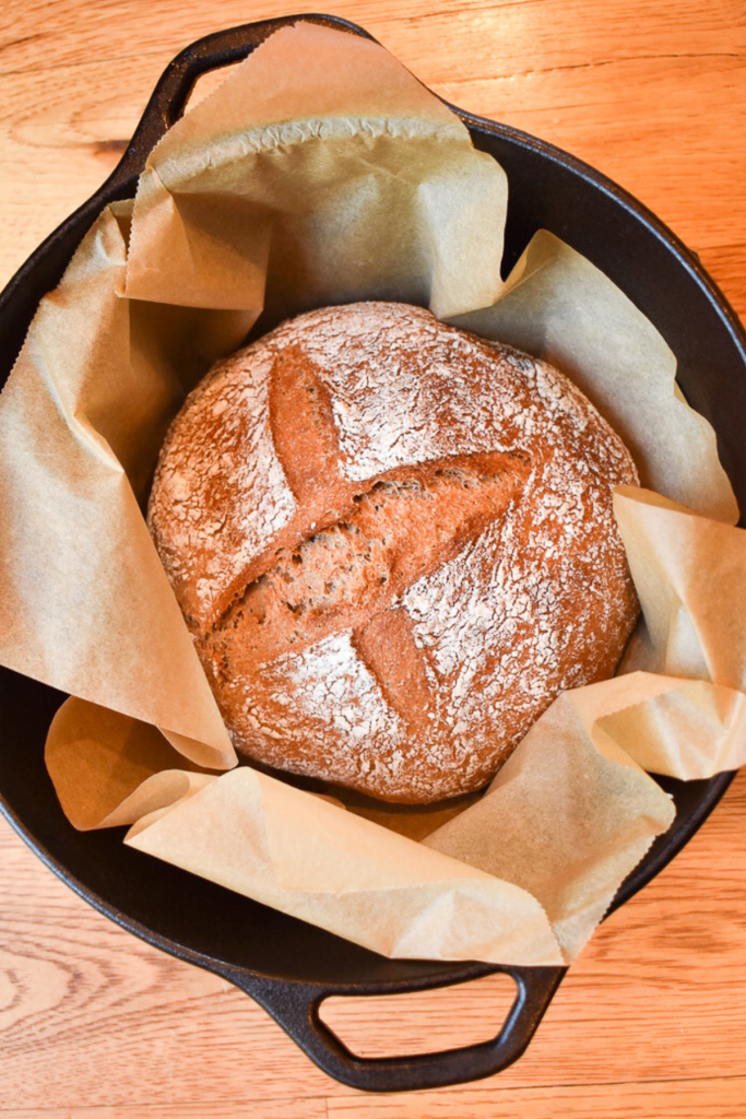 no knead whole wheat sourdough bread recipe