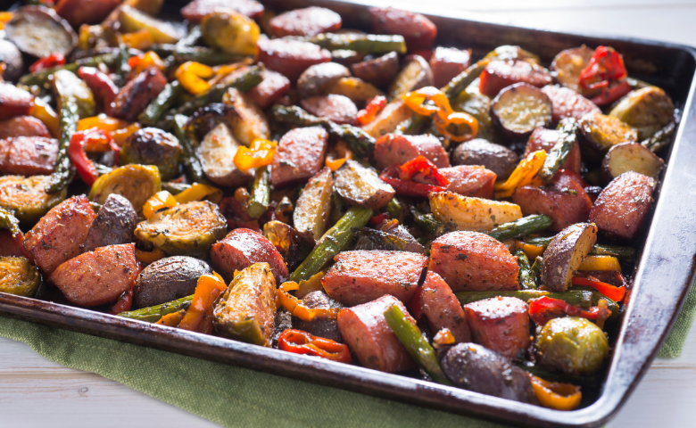 easy sheet pan dinner ideas kielbasa