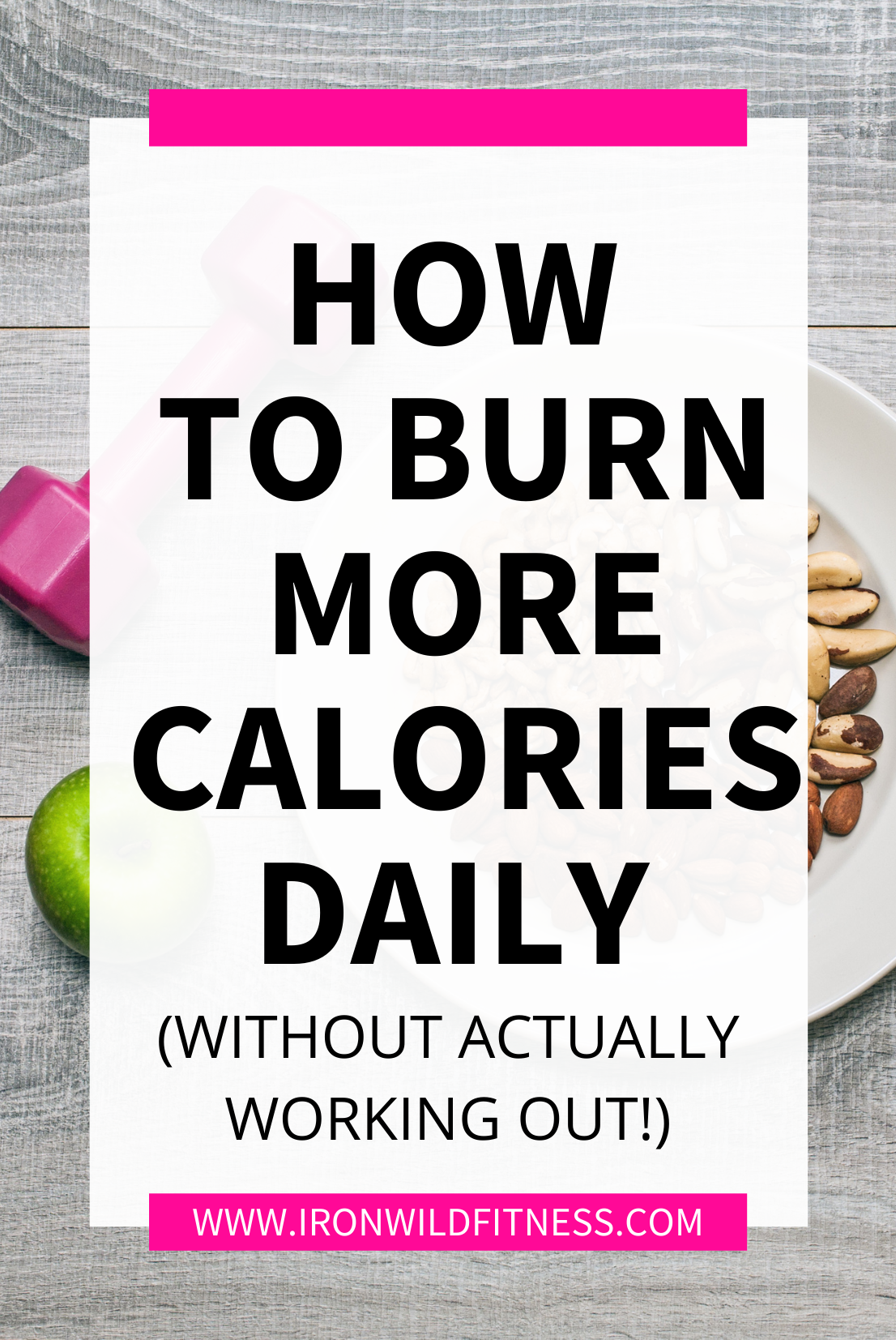 how to burn more calories without working out